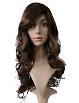 cheap -Wig Accessories / Synthetic Wig Curly Layered Haircut Synthetic Hair Heat Resistant / Synthetic / Hot Sale Brown Wig Women's Very Long Capless / Natural Hairline