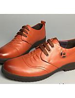 Недорогие -Муж. обувь Кожа Зима Удобная обувь Туфли на шнуровке Черный / Коричневый