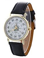 Недорогие -Жен. Наручные часы Китайский Творчество / Повседневные часы / Крупный циферблат PU Группа Мода / минималист Черный / Белый / Синий