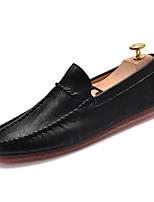 Недорогие -Муж. обувь Искусственное волокно Полиуретан Кожа Лето Мокасины Удобная обувь Мокасины и Свитер для на открытом воздухе Белый Черный