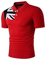 cheap -Men's Active / Basic Polo - Solid Colored