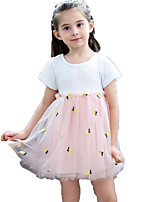 cheap -Kids / Toddler Girls' Pineapple Jacquard / Fruit Sleeveless Dress