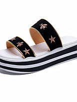 cheap -Women's Shoes PU Summer Comfort Slippers & Flip-Flops Creepers for Casual Black
