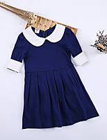 cheap -Kids Girls' Color Block Long Sleeve Dress
