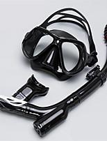 Недорогие -Наборы для снорклинга / Дайвинг Пакеты - Маска для ныряния, шноркель - Противо-туманное покрытие, подводный, Сухая трубка Плавание,