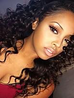 Недорогие -Remy Парик Бразильские волосы Кудрявый 130% плотность С детскими волосами С отбеленными узлами 100% девственница Природные волосы Новое