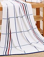 abordables -Qualité supérieure Serviette de bain, Lignes / Vagues 100% Coton 1 pcs