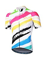 cheap -Arsuxeo Short Sleeve Cycling Jersey - White Bike
