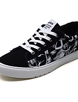 cheap -Men's Shoes Fabric Summer Comfort Sneakers Walking Shoes Black / White / Black / Red / Black / Blue / Striped