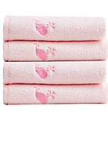 cheap -Superior Quality Bath Towel / Hand Towel, Embroidery Poly / Cotton 4 pcs
