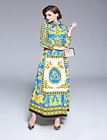 cheap -SHE IN SUN Women's Vintage Swing Dress - Geometric Print