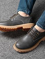Недорогие -Муж. обувь Искусственное волокно Лето Удобная обувь Туфли на шнуровке для на открытом воздухе Черный Желтый Коричневый