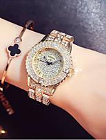 Недорогие -Жен. Нарядные часы / Наручные часы Японский Новый дизайн / Повседневные часы / Имитация Алмазный Нержавеющая сталь Группа Мода /