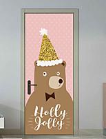 abordables -Autocollants muraux décoratifs Autocollants de porte - Location Stickers muraux Autocollants muraux animaux Animaux Noël Salle de séjour