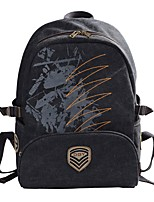 cheap -Unisex Bags Canvas Backpack Embroidery / Zipper Black / Light Gray / Army Green