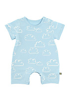 cheap -Baby Unisex Basic Geometric Short Sleeves Cotton Romper / Toddler