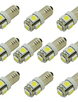 cheap -10pcs E10 Car Light Bulbs 2W SMD 5050 85lm 5 LED Interior Lights For universal / General Motors General Motors Universal
