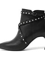Недорогие -Жен. Обувь Кожа / Наппа Leather Осень / Зима Модная обувь Ботинки На шпильке Ботинки для Черный / Коричневый