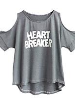 economico -T-shirt Per donna Essenziale Con stampe, A strisce / Alfabetico