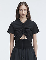 cheap -Women's Cute T-shirt - Solid Colored