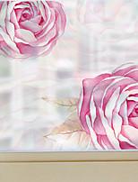 Недорогие -Оконная пленка и наклейки Украшение штейн / Современный Цветочный принт ПВХ Стикер на окна / Матовая