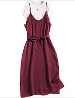 abordables -Mujer Polo - Un Color Vestidos
