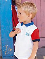 cheap -Kids / Toddler Boys' Black & Red / Blue & White Geometric Short Sleeve Tee