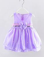 cheap -Kids Girls' Solid Colored Sleeveless Dress