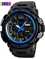 cheap -SKMEI Men's Digital Digital Watch Sport Watch Alarm Calendar / date / day Chronograph Water Resistant / Water Proof Large Dial PU Band