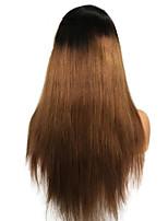 Недорогие -Не подвергавшиеся окрашиванию Парик Бразильские волосы Прямой 130% плотность С детскими волосами Длинные Жен. Парики из натуральных волос