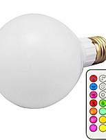 abordables -1pc 10W 800lm E26 / E27 Ampoules LED Intelligentes G80 18 Perles LED SMD 5730 Intensité Réglable Décorative Commandée à Distance RGBWW