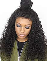 cheap -Unprocessed Human Hair Wig Brazilian Hair Curly Side Part 250% Density With Baby Hair Unprocessed Natural Hairline Natural Short Long Mid