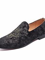 Недорогие -Муж. обувь Замша Лето Удобная обувь Мокасины и Свитер для Офис и карьера Черный Зеленый