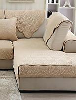 abordables -Canapé Coussin Couleur Pleine Imprimé Coton / Polyester Literie