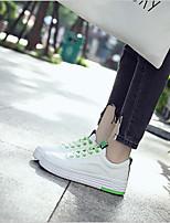 abordables -Femme Chaussures Toile Printemps Confort Basket Talon Plat pour Noir Vert Rose