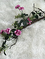 cheap -Artificial Flowers 1 Branch Rustic Roses Wall Flower