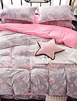 cheap -Duvet Cover Sets Floral Polyster Reactive Print 4 Piece