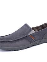 Недорогие -Муж. обувь Полотно Лето Мокасины Мокасины и Свитер Темно-синий / Серый / Верблюжий