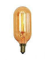 abordables -1pc 40W E14 E26 / E27 T45 Blanc Chaud 2000k Décorative Ampoule incandescente Edison Vintage 110-120V 220-240V