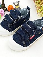 abordables -Garçon Chaussures Toile Printemps Confort Basket Scotch Magique pour De plein air Bleu de minuit Bleu clair