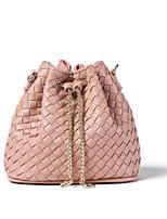 cheap -Women's Bags PU Shoulder Bag Zipper Blushing Pink / Light Gray / Silver