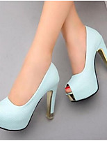 cheap -Women's Shoes PU Summer Comfort Wedding Shoes Stiletto Heel for Casual White Purple Blue