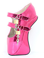 cheap -Women's Shoes PU(Polyurethane) Spring & Summer Novelty Heels Heterotypic Heel Round Toe Fuchsia / Party & Evening / Party & Evening