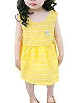 economico -Bambino (1-4 anni) Da ragazza A strisce Senza maniche Vestito
