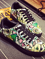 cheap -Men's Shoes Polyurethane Summer Comfort Sneakers Black / Red / Green