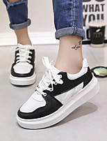 cheap -Women's Shoes PU Summer Comfort Sneakers Flat Heel for Casual Black Red