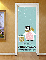 abordables -Calcomanías Decorativas de Pared Pegatinas de puerta - Holiday pegatinas de pared Pegatinas de pared de animales Animales Navidad Sala de