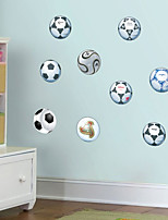 abordables -Autocollants muraux décoratifs - Autocollants avion Football Salle de séjour Chambre à coucher Salle de bain Cuisine Salle à manger