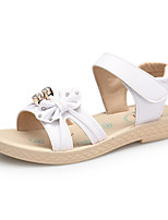 cheap -Girls' Shoes Leather Spring & Summer Comfort Sandals Imitation Pearl / Magic Tape for White / Pink / Light Blue