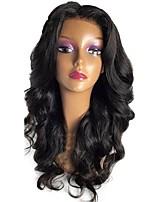 abordables -Cheveux Vierges Perruque Cheveux Péruviens Ondulé Coupe Dégradée 130% Densité Avec des cheveux de bébé Pour Cheveux Africains Noir Court